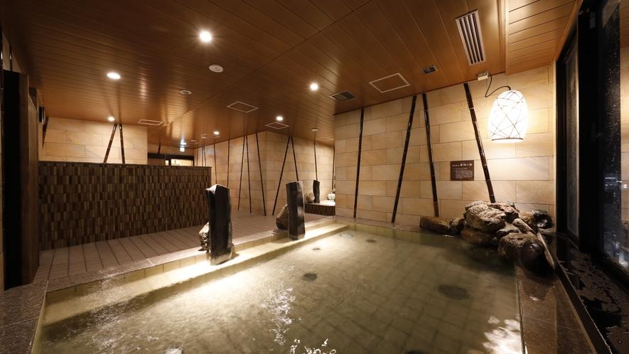 ■天然温泉大浴場「香梅の湯」女性内湯(湯温:40~41℃)