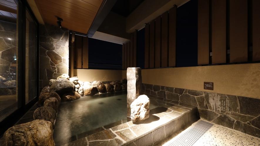 ■天然温泉大浴場「香梅の湯」女性露天(湯温:42~43℃)