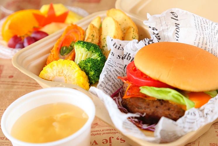 【朝食一例】ハンバーガーセット