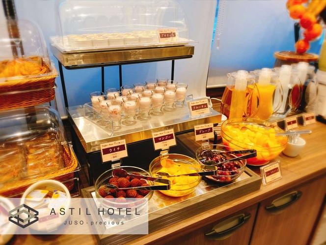 <1Fレストラン・roomcafe>40品目以上ある朝食バイキング・2種類ある朝カレーが人気