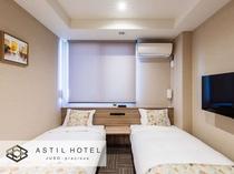<客室>優しい色合いお部屋タイプ 暖かな雰囲気です。・ハリウッドタイプ 離したベットのイメージ