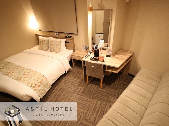 <客室>優しい色合いお部屋タイプ 暖かな雰囲気です。・クイーンタイプ