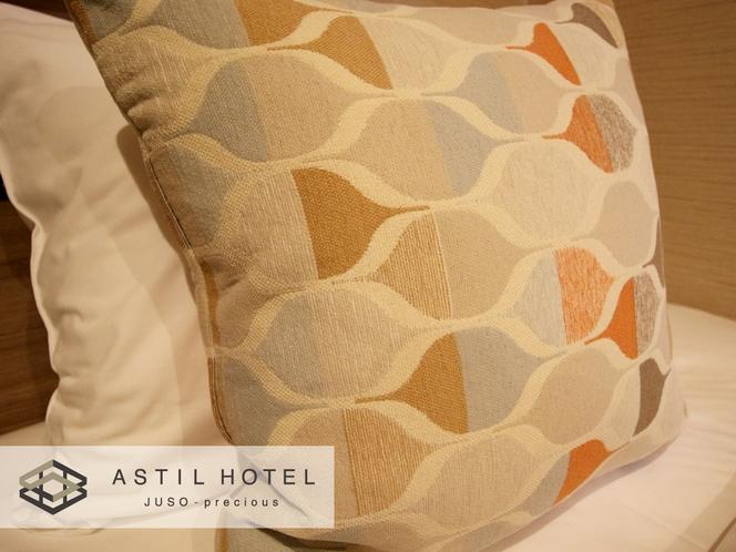 <客室>優しい色合いお部屋タイプ 暖かな雰囲気です。・クッション