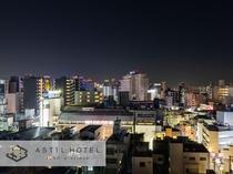 <10F最上階>ルーフトップテラス♯お風呂上りに梅田の夜景が堪能できます。