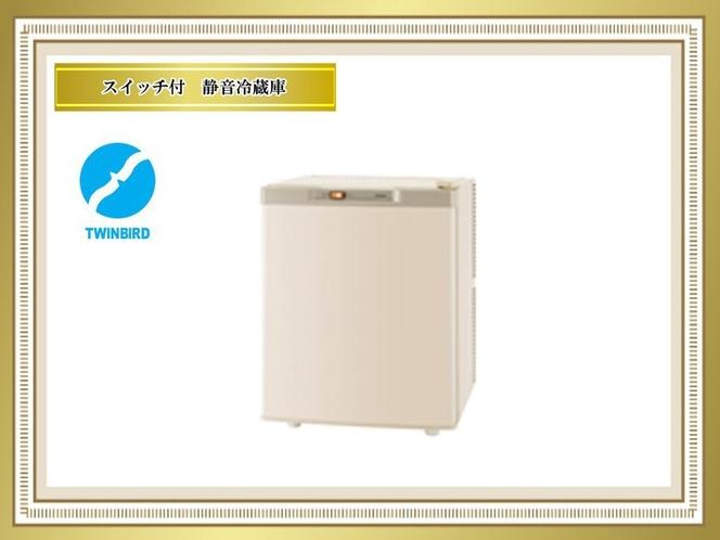 <客室>ツインバード 静かなペルチェ式冷蔵庫