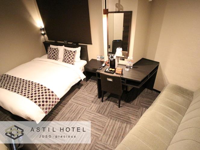 <客室>落ち着いた色合いのお部屋タイプ シックな雰囲気です。・クイーンタイプ