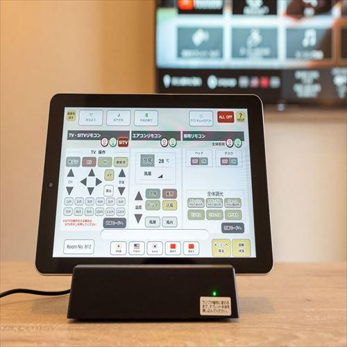 【Smart】Iotタブレットで客室電化製品を操作可能♪
