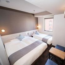 【ツインルーム】150cm幅+100cm幅のベッドをご用意♪