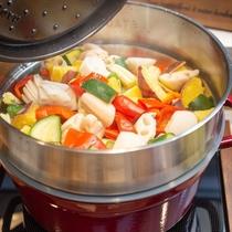 【Organic】蒸し野菜で朝から元気に♪