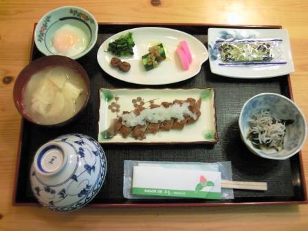 朝食(じゃこてん)