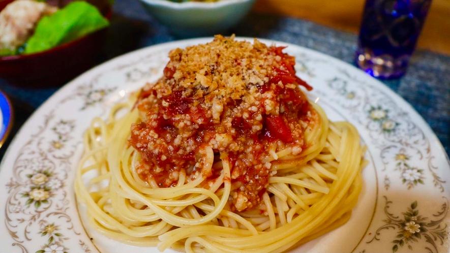 ・<選べる夕食②>トマトソースパスタ