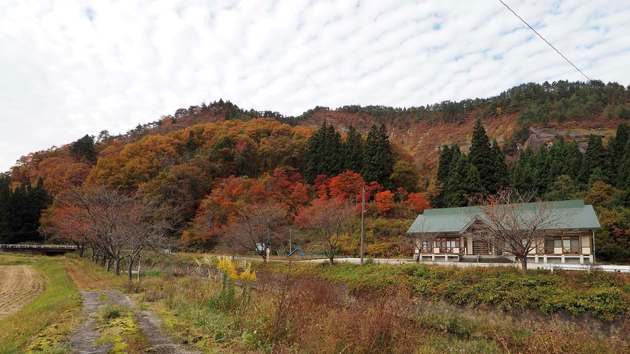 ・山々が色付く季節。紅葉もお楽しみいただけます。