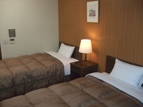 ツイン(一室に、ベッドが二つ)部屋面積約19㎡