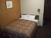 ダブル(一室に、ベッドが一つ)部屋面積約17㎡