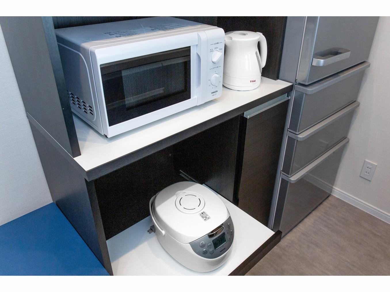 客室内キッチン家電
