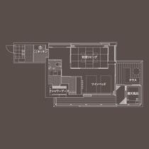 【ガーデンヴィラ】専有露天風呂付和洋室D 83平米