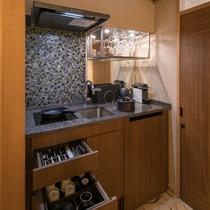 ガーデンヴィラ各客室 ミニキッチン(一例)