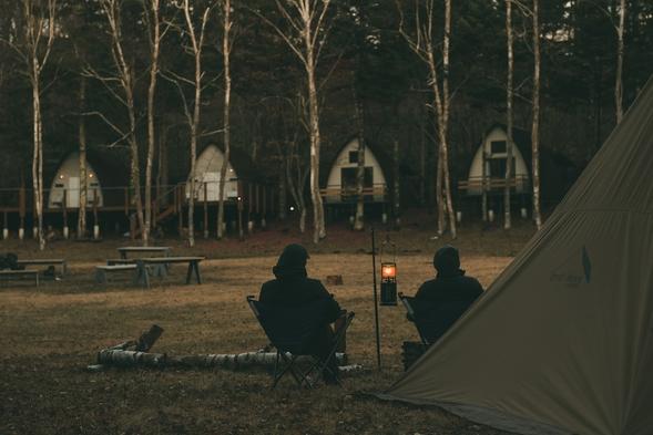 【素泊まりプラン】キャンプエリアに建つキャビンに泊まろう