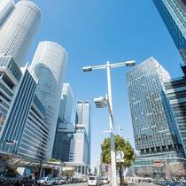 高層ビルが建ち並ぶ名古屋駅桜通口
