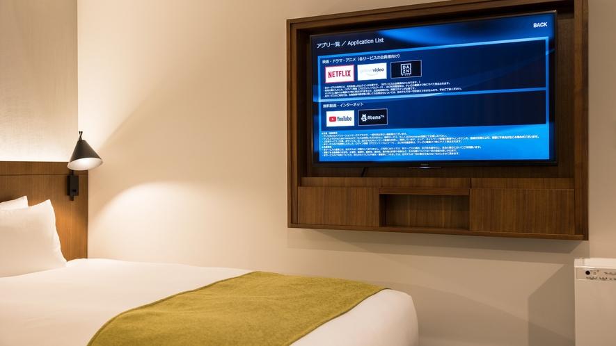 動画アプリ内蔵49型4Kテレビ