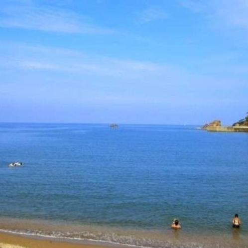泊海水浴場は透明度抜群の海とプライベート的なビーチが人気です♪