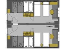 コネクティングルーム平面図