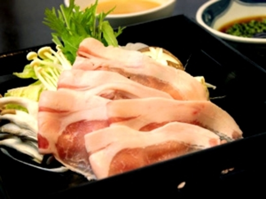 【部屋おまかせ】お手軽夕食付き♪豚肉のしゃぶしゃぶ定食★☆★
