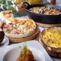 【サマーフェア】夏のピザ2種_夏野菜のチーズグラタン等