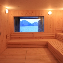 大浴場「水波・風波」洞爺湖を眺めながらのサウナ