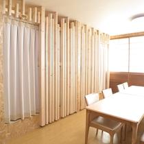 *男女共用のドミトリータイプのお部屋。カーテンを閉めればプライベート空間。