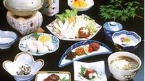 【夕食】鱧鍋セット(10品)