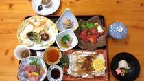 【夕食】旬の新鮮な素材を使ったミニ会席