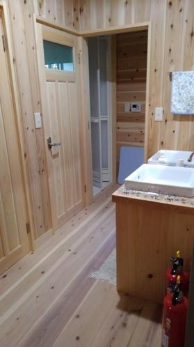 改装した洗面所・トイレ