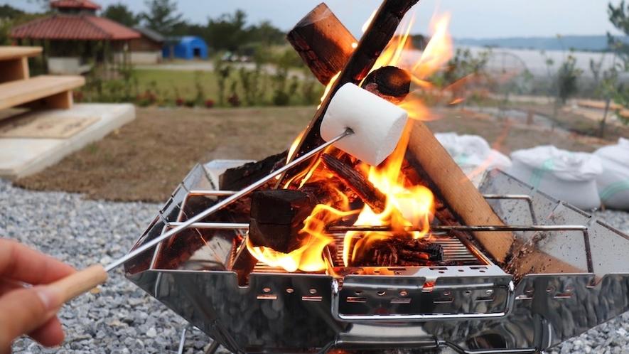 焚火/焼きたてのマシュマロの味を試してみませんか?