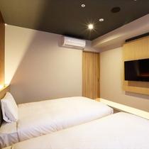ジャパネスクツインルーム<禁煙>20平米/幅120cmベッド