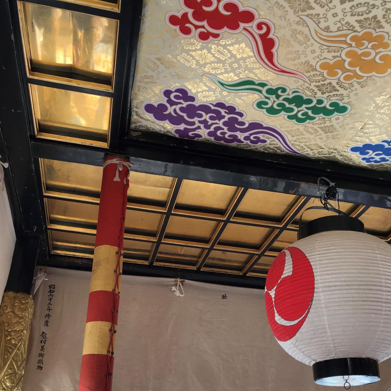 2019年の祇園祭の様子 山鉾岩戸山の内部