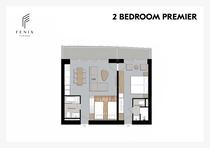 2ベッドルームプレミアの見取り図
