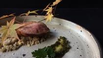 *夕食一例/合鴨炙り-栗のペースト-セリのソース