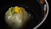 *夕食一例/百合根饅頭-合鴨射込み
