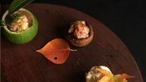 *夕食一例/前菜四種の無花果を四種の調理法で