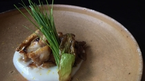 *夕食一例/合鴨と舞茸のバルサミコソテー-里芋のソースで