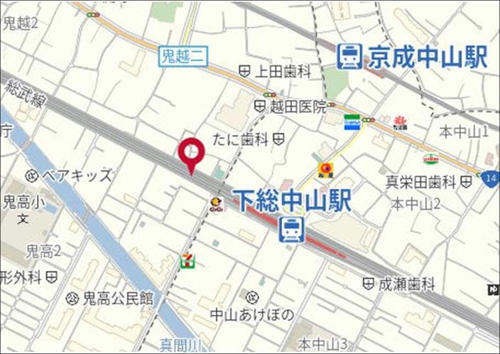【Parking in 下総中山駅前】18:00~8:00は最大500円! 徒歩2分です(^ω^)