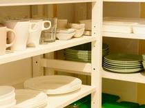 食器類はご自由にお使いください【1F共用キッチン備品】