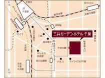 千葉駅より徒歩8分。皆様のお越しをお待ち致しております。