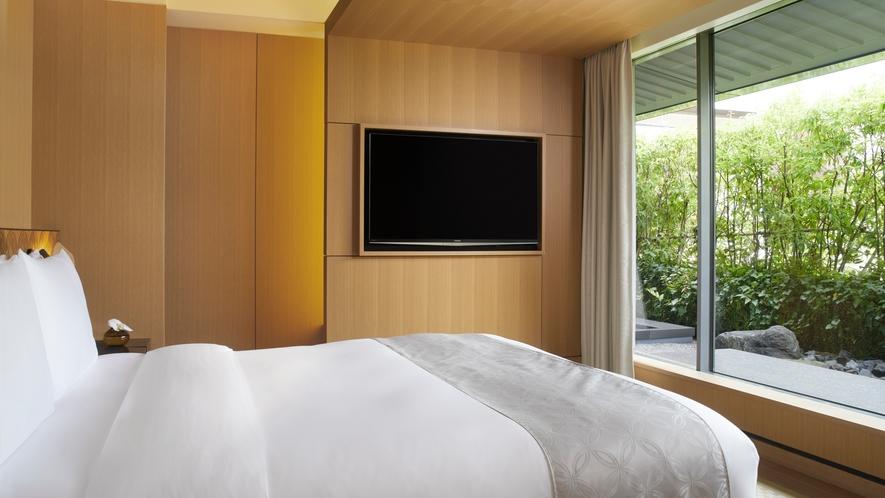 客室/ガーデンスイート ベッドルーム