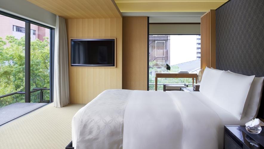 客室/コーナースイートMINAMI ベッドルーム
