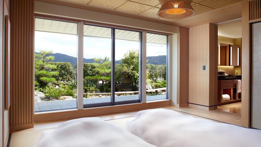客室/ガーデンテラススイートTATAMI ベッドルーム