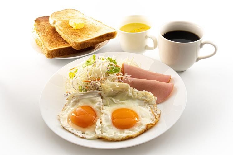 軽朝食の調理例