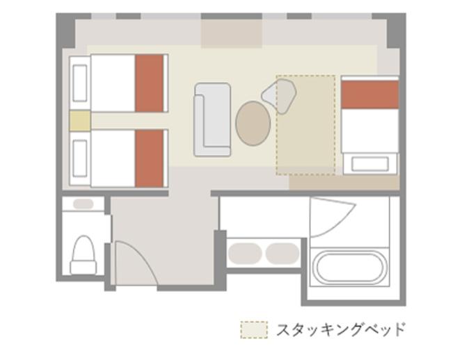 【エミオンフォース:43㎡】室内レイアウト(一例)