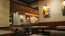 【朝食】会場は館内の提携店舗「PRONTO」